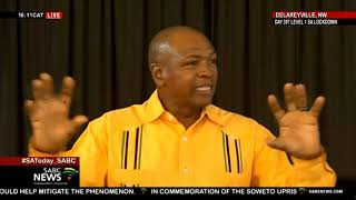 Supra Mahumapelo briefs branches on recent suspension of a number of prominent ANC members