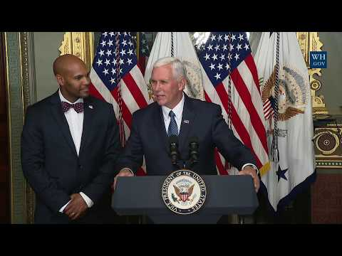 Vice President Pence Participates in a Swearing-in Ceremony for U.S. Surgeon General