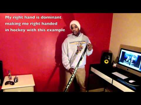 How To Hold Your Hockey Stick - Decide What Hockey Stick To Use - Left Or Right Handed For Beginners