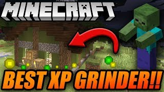 BEST AND SIMPLE MOB XP GRINDER IN MINECRAFT! - Minecraft Console Zombie/Skeleton XP Grinder Tutorial