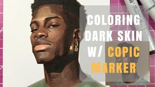 Coloring Dark Skin w/ Copic Marker