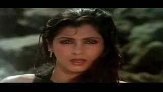 Dimple Kapadia In Black Swimsuit from bollywood movie Saagar.
