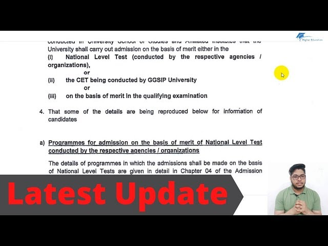 IP-University latest update on application form complete Details 2020