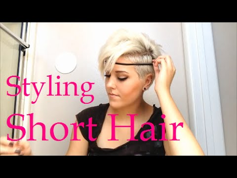 How to style really short hair
