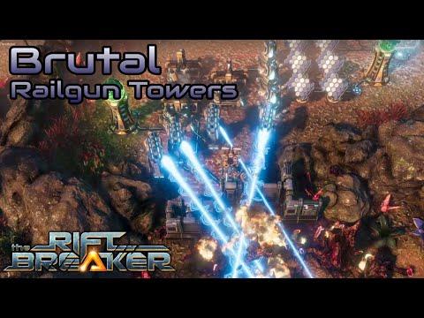 The Riftbreaker – Brutal run – Railgun towers are good