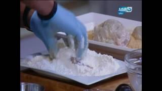 لقمة هنية : طريقة عمل كوردون بلو بالمكسرات- لحمة بالذرة والجبنة- سلطة الخضراوات بالجبنة