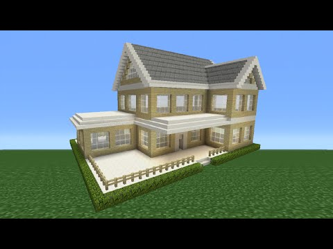 Minecraft Tutorial: How To Make A Suburban House - 2
