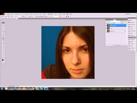 Видеоурок Photoshop как убрать Дефекты кожи. Урок №1
