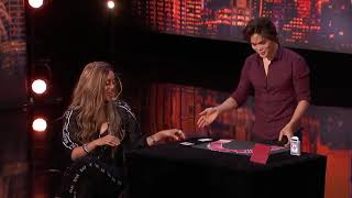 Card Magician Wows Tyra Banks on Stage!   America s Got Talent   Got Talent Glob