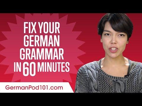 Fix Your German Grammar in 60 Minutes