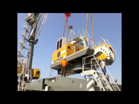 Адлер порт  Монтаж портовых мобильных кранов Liebherr  Июль   Сентябрь 2010 год
