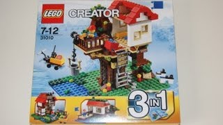 Lego Creator 2013 - 31010 Tree House Stop Motion Review