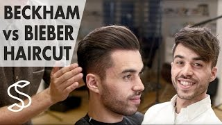 David Beckham Vs. Justin Bieber Hair ˜� Battle Of The Best Men's Hairstyle