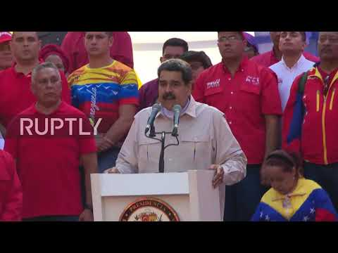 Venezuela: Maduro calls for 'national dialogue' as thousands rally in Caracas