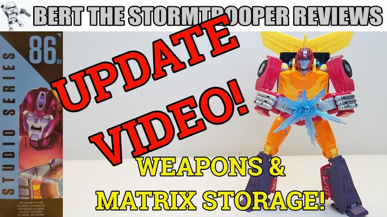 Studio Series 86 HOT ROD UPDATE! Weapon & Matrix Storage by Bert the Stormtrooper!