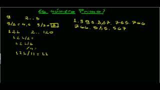 Numeros primos: Como saber si un numero es primo