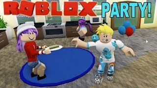 Chad and Audrey Throw a Party in Roblox / Bloxburg Roleplay / Gamer Chad