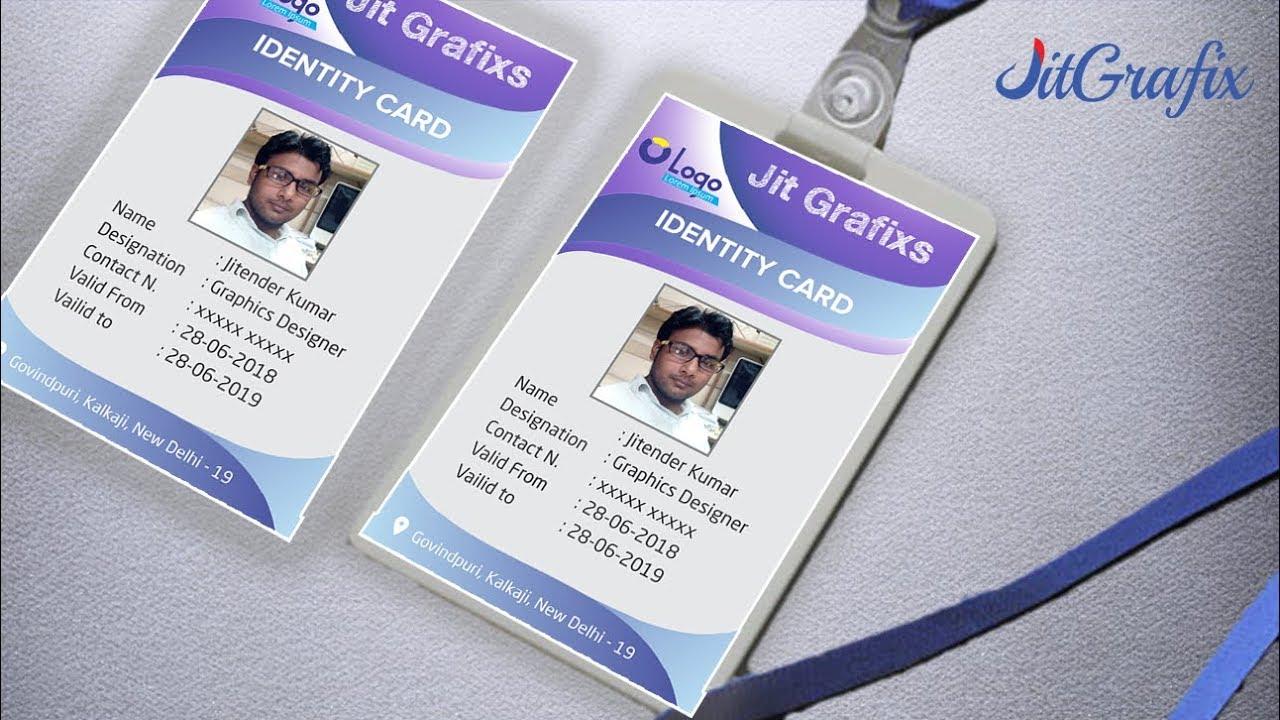 School Identity card design in Coreldraw Learn   Company id card Design    Employee id card Latest
