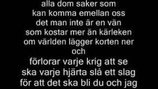 Kärlek text på svenska