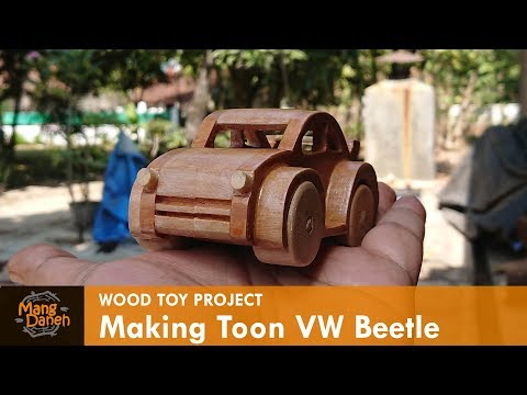 Wooden toy VW Beetle