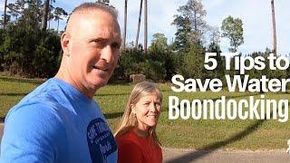Boondocking: Water Saving Tips - Full Time RV