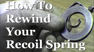 Video RicksDIY How To Rewind Recoil Pull Starter Spring Small Engine Coil Start download MP3, 3GP, MP4, WEBM, AVI, FLV Oktober 2018