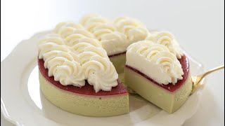 ピスタチオのムースケーキの作り方 No-Bake Pistachio Mousse Cake HidaMari Cooking