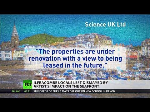 Damien Hirst is divisive amongst locals of Devon seaside town