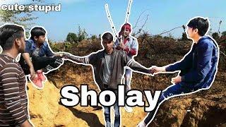 SHOLAY || Sholay spoof comedy || cute stupid || cs