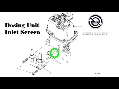 Detroit DEF Dosing Unit Inlet Screen