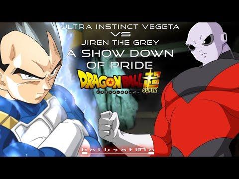 DBS: Ultra Instinct Vegeta Vs Jiren (A Show Down Of Pride) - HalusaTwin