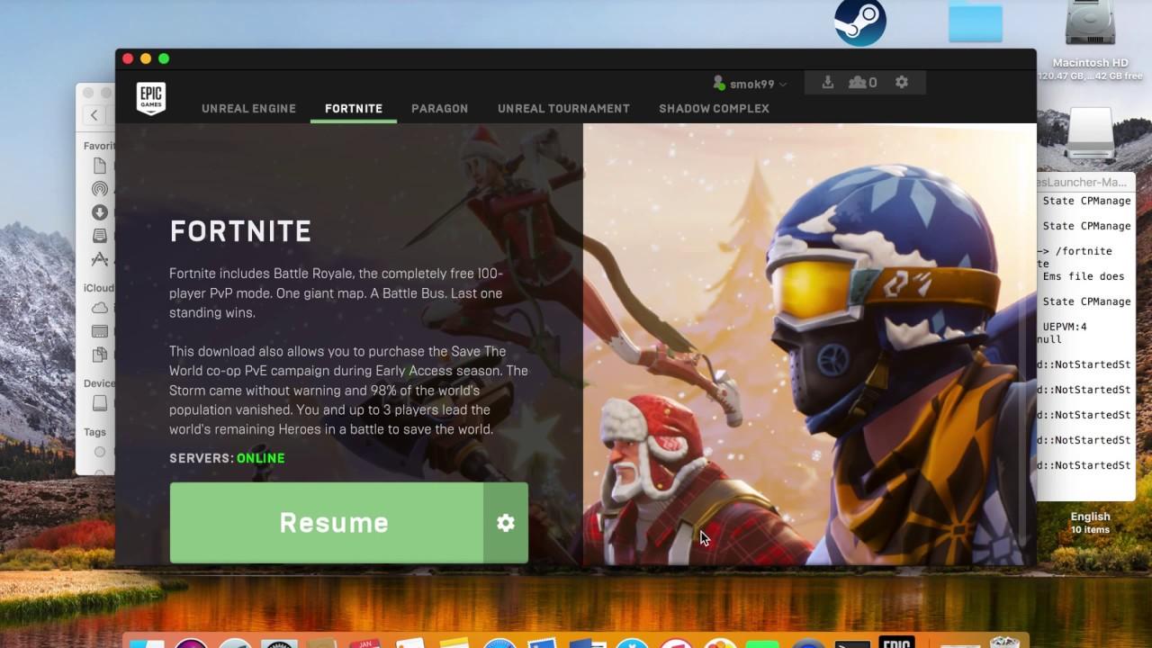 fortnite not loading mac