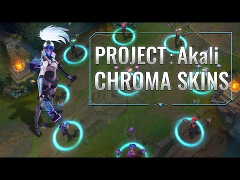 PROJECT Akali Chroma skins (League of Legends)