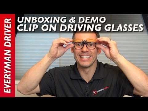 f62bced7f38 Unboxing  Clip-on Flip Up Polarized Driving Sunglasses on Everyman Driver
