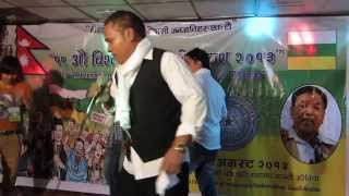 Alu tamale song singing by.. Sunil Rasali at Hill Top Restaurant ..