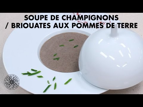 choumicha-:-soupe-de-champignons-/-briouates-aux-pommes-de-terre-|-شميشة-:-شربة-بالفطر-الأبيض