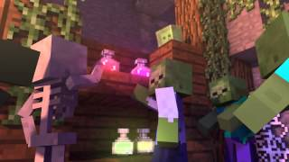 Приколы minecraft Ведьма vs Стив битва в танце!