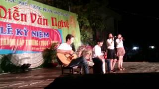 Ba kể Con nghe guitar cover cấm trại Phan Thanh Giản