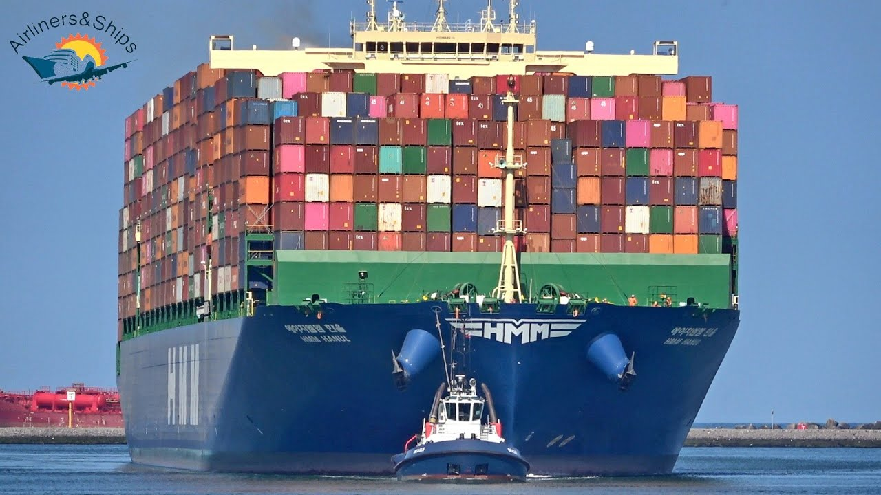 Download MIGHTY CONTAINER Ship Arrival at ROTTERDAM Port - Shipspotting ROTTERDAM 2021