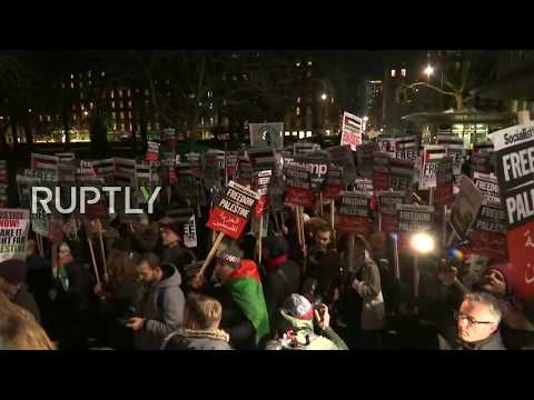 LIVE: Protest in London against Trump's Jerusalem decision, counter demo expected