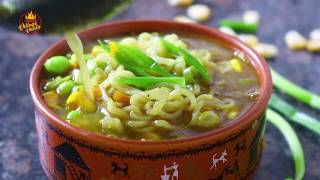 Vegetable Noodle Soup Recipe | Noodles Soup Recipe Chinese Style |  Maggi Veg Masala Noodles Soup