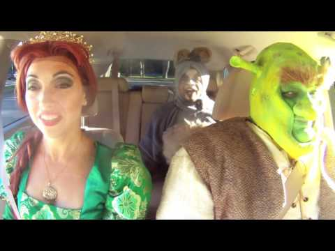 Carpool Karaoke with Shrek at HMT - OUTTAKES