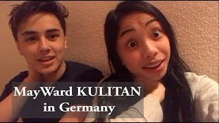 MayWard's Christmas KULITAN in Germany | Maymay's IG LIVE with Edward in Germany