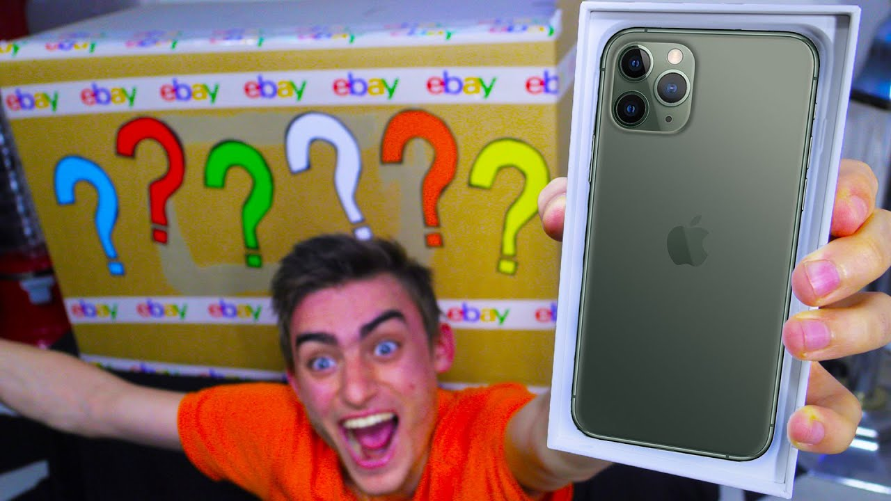Unboxing 100 000 Ebay Mystery Box Omg Iphone 11 Pro Youtube