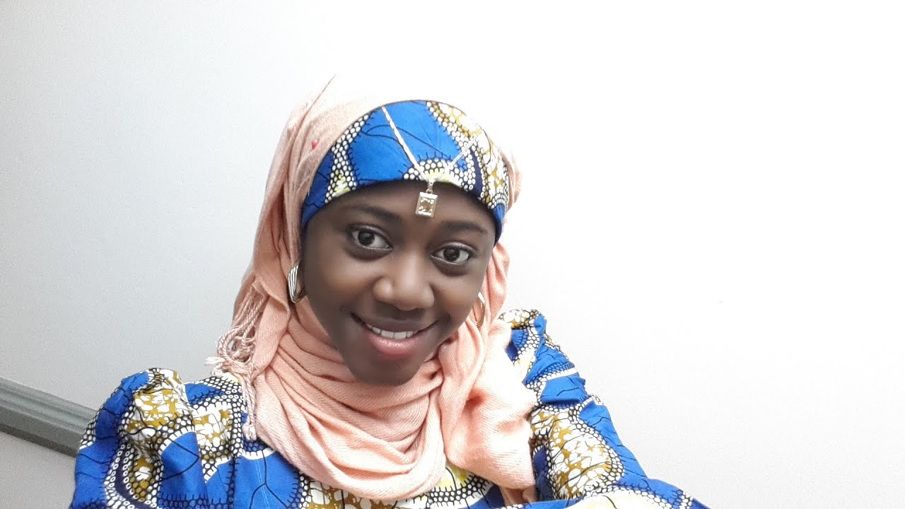 Hijab Style Tutorial With African Wear - YouTube
