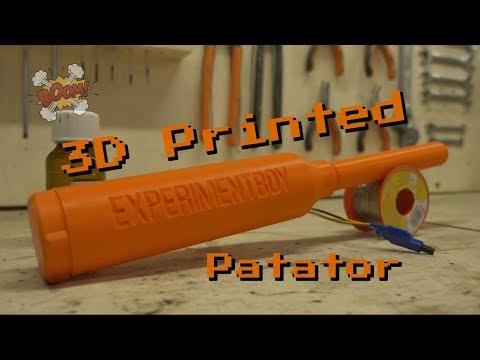 Un patator imprimé en 3D ? Fabrication et mesure de vitesse → E-Make