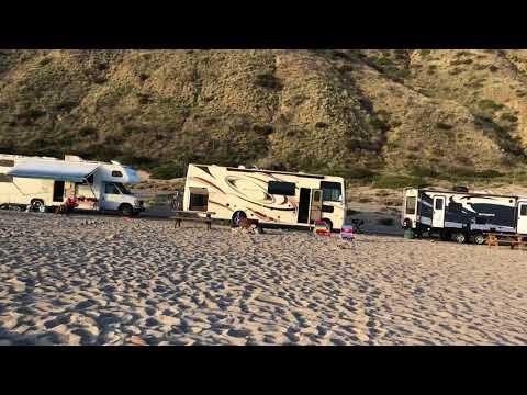 Beach camping at Point Mugu