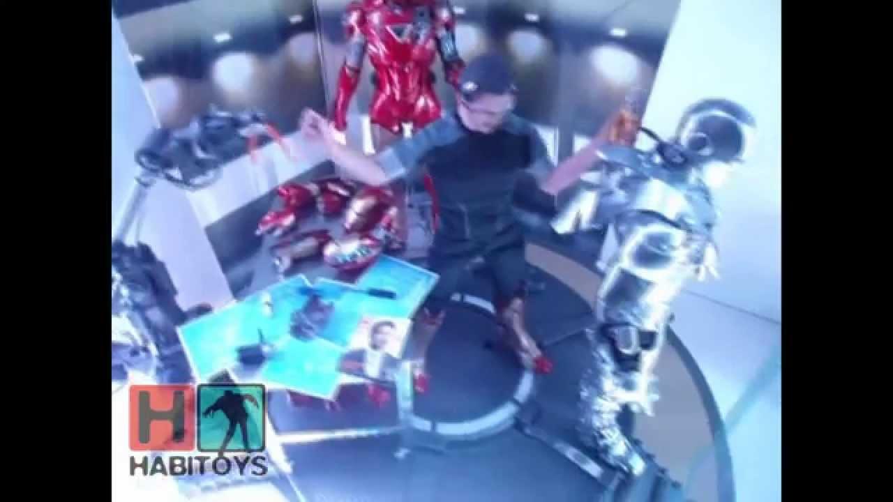 Download Habi Toys - Tony Stark Test Armor Iron Man 3 Hot Toys En Español