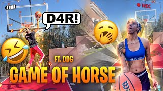 DDG VS BREE * Basketball game of H.O.R.S.E ***  Loser does what?!?
