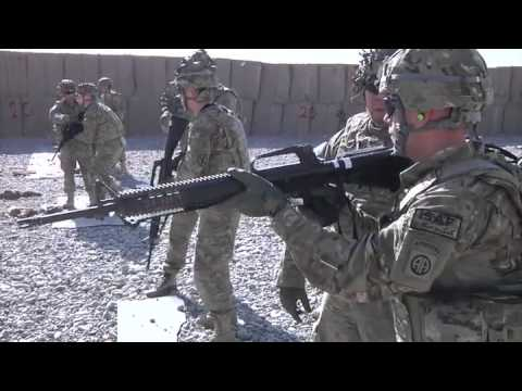 Close Quarters Marksmanship - Soldiers From 10th Mountain Division Fort Drum, NY in Afghanistan